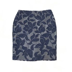Ann Taylor LOFT 0 Petite Pencil Skirt Navy & Gray